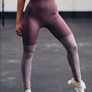Gym shark purple two tone workout leggings
